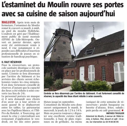 20200616 ouverture estaminet du Moulin VdNrevue de presse