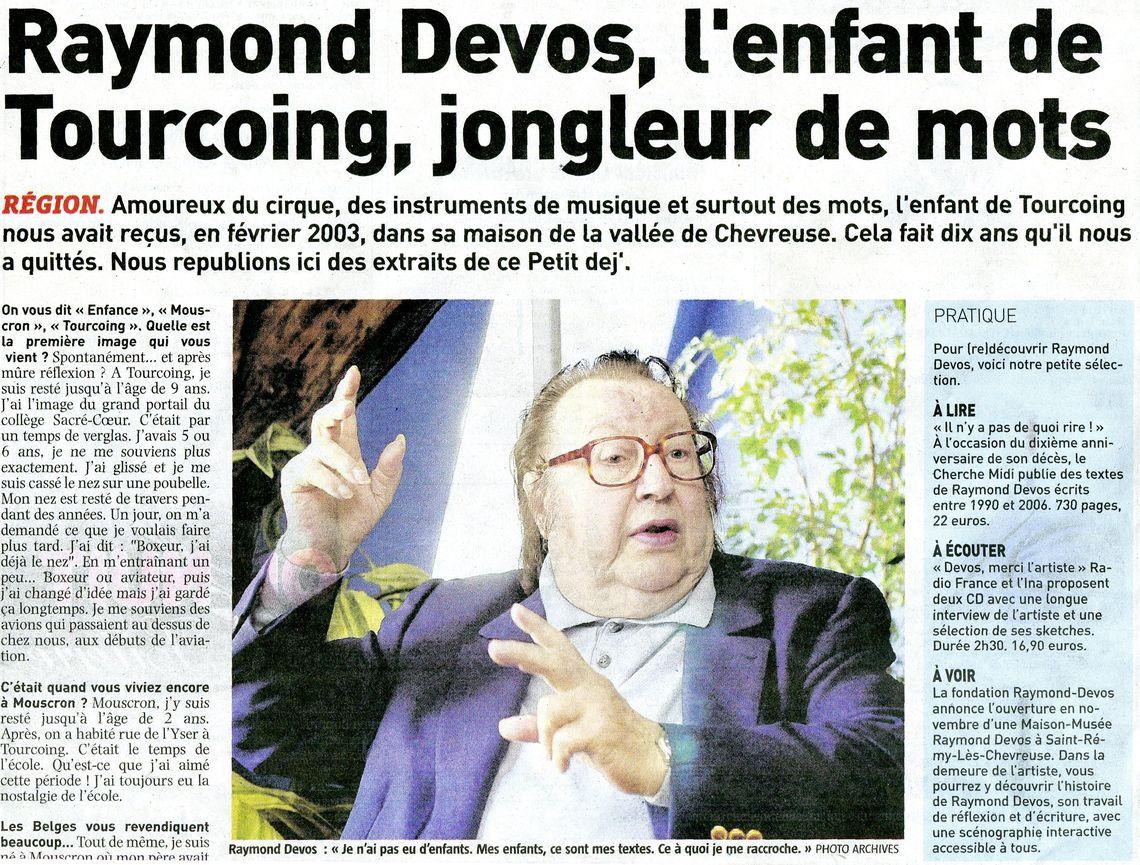 Raymond devos d c s en 2006 hommage de la presse tourcoing juin 2016 - Le roi du matelas tourcoing ...
