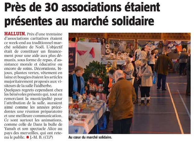 20181215 March solidaire Nol NE revue de presse