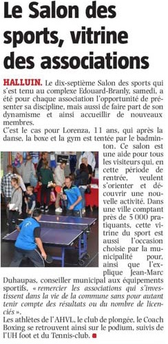 20190909 salon des sports 2019 VdN revue de presse